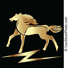 cavallo, oro