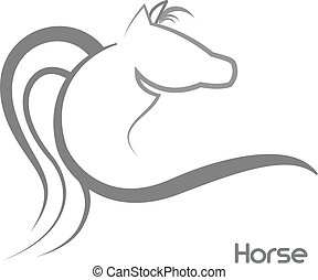 Stilizzato Cavalli Amore Logotipo Cavalli Stilizzato