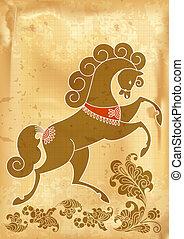 Cavallo Stilizzato Disegno Cavallo Stilizzato Sfondo