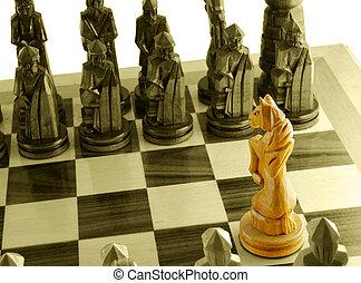 cavallo, unico, scacchi
