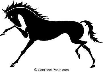 Cavallo disegno stilizzato correndo linea trottare o for Disegno cavallo stilizzato