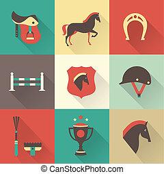 cavalo, ícones
