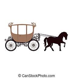 cavalo, behicle, carruagem