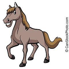 cavalo, caricatura