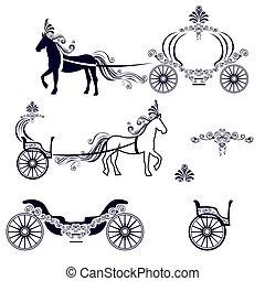 cavalo, carruagem