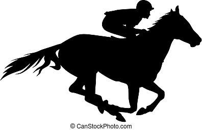 cavalo corre