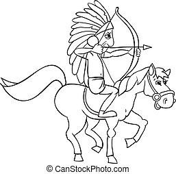 cavalo, indianas