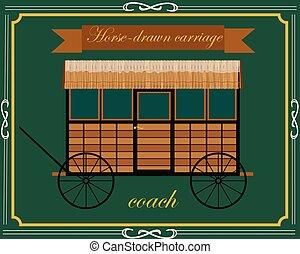 cavalo madeira, carruagem