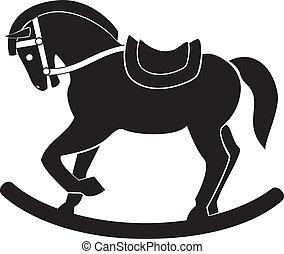 cavalo madeira, vetorial, guerra