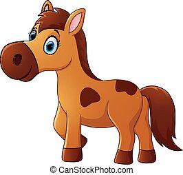 cavalo marrom, caricatura