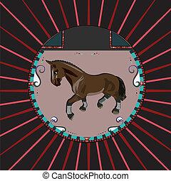 cavalo marrom