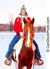 cavalo, mulher