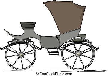 cavalo, real, carruagem