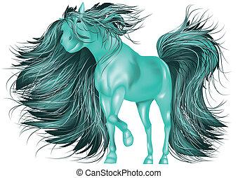 cavalo, verde