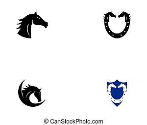 cavalo, vetorial, ilustração, ícone
