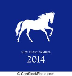 cavalo, vetorial, símbolo