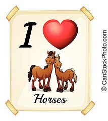 cavalos, amor