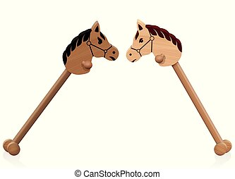 cavalos, brinquedo, luta, brincalhão, passatempo, conflito