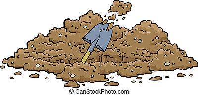 cavando, buraco