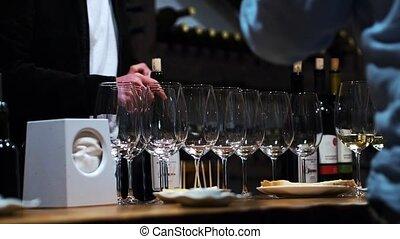 cave, gens, dégustation de vins