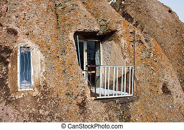 Cave house in village Kandovan, Iran