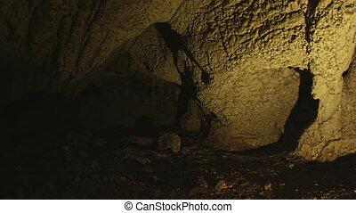 Cave interior - Prehistoric cave interior above Roski...