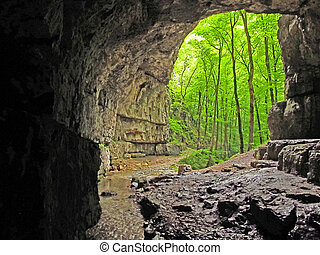 Cave on the Swabian Alb, Germany - Cave on the Swabian Alb...