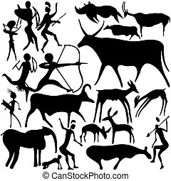 Cave painting.