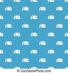 Cave painting pattern vector seamless blue