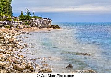 Cave Point Wisconsin Coastline