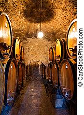 cave, vin,  passage