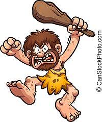 caveman, arrabbiato