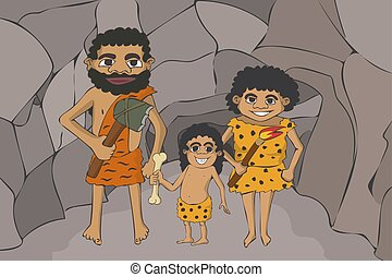 caveman cartoon family insight the cave