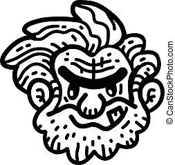 Caveman cartoon vector