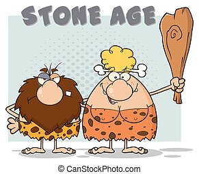 caveman, coppia, caratteri