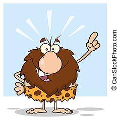 caveman, macho, idéia, bom