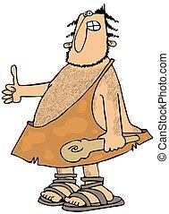 Caveman Thumbs-up