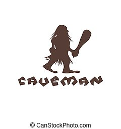 caveman with a cudgel in his hands