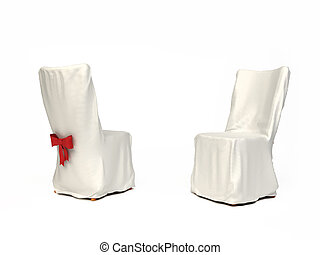Cavered chair for wedding isolated on white background