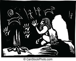 caverna, arte