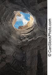 caverna, fuga