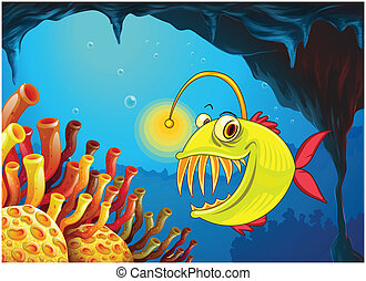 caverna, piranha
