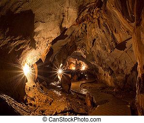 caverne, éclairage
