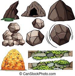 caverne, rochers