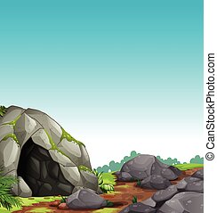 caverne, scène