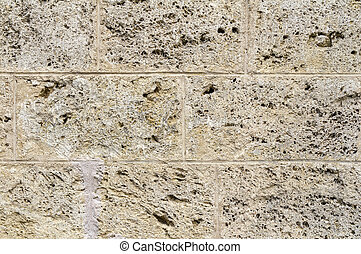 cavernous stone wall detail