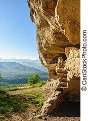 Caves at Tepe Kermen, Crimea