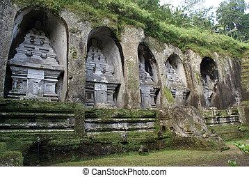 Caves in Gunung Kawi, near Ubud, Bali