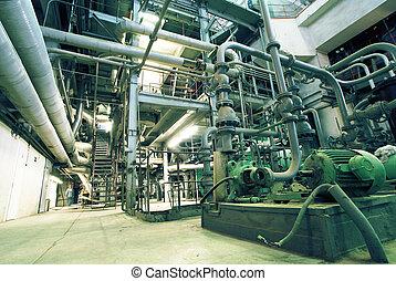 cavi, dentro, apparecchiatura, moderno, fondare, industriale...