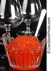 caviar, rojo